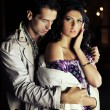 Attractive young couple at night - 