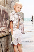 Young boy posing on vacation day — Stock Photo