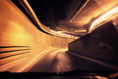 Dynamic photo of a tunnel — Stock Photo