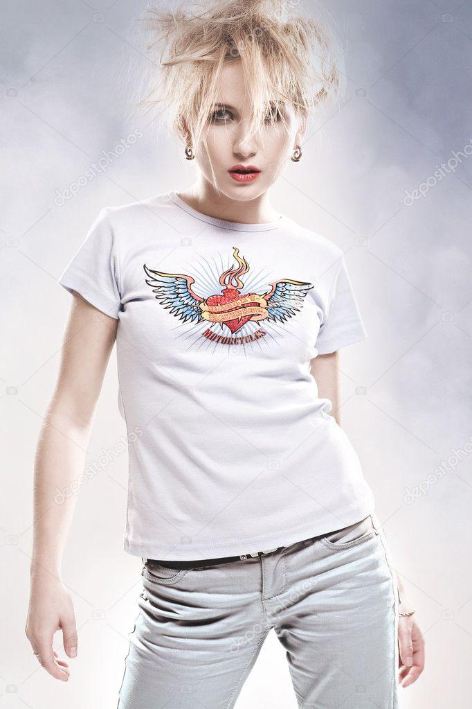 Скачайте стоковую фотографию Сумасшедшая девушка - 4505619 из
