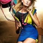 mode stil foto der blonden schönheit — Stockfoto