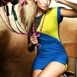 Fashion style photo of blond beauty - Foto de Stock