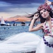 Стоковое фото: Romantic style photo of a beautiful brunette
