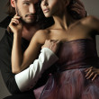 Vogue style photo of a cute couple — Stockfoto