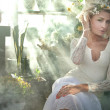 Stock Photo: Romantic style photo of gorgeous blond beauty