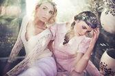 Duas ninfas de linda flor — Foto Stock