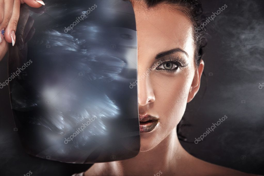 Modern style portrait of a beautiful lady   Stock Photo #4579161