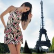 Pretty brunette over urban background - Lizenzfreies Foto