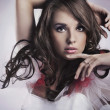 Gorgeous beauty portrait of a young brunette - Foto Stock