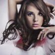 Gorgeous beauty portrait of a young brunette - Stockfoto