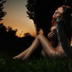 Fine art photo of a woman-angel — Stock Photo