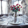 Table setting for wedding — Stock Photo