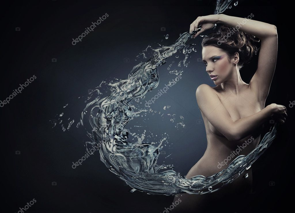 Fine art photo of a young woman   Stockfoto #4581373