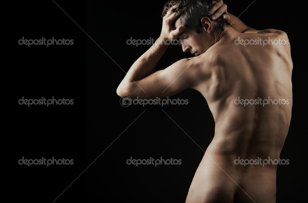 Male fashion shot, muscular guy  — Stockfoto #4581401