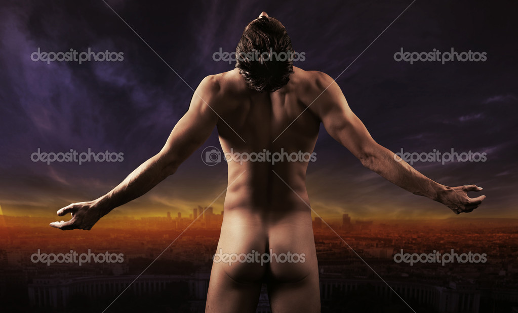 Male fashion shot, muscular guy  — Stock Photo #4581402