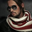 Handsome man wearing scarf - Stock Photo