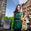 Young woman with shopping bag — Foto de Stock   #4595008
