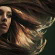 Portrait of a young woman with long hair — Stock Photo