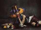 可怕的怪物小丑 — 图库照片