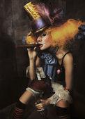 Unheimliches monster clown — Stockfoto