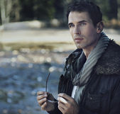Outdoors portrait of a young man — Stock Photo
