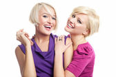 Two young girls fiends — Stock Photo