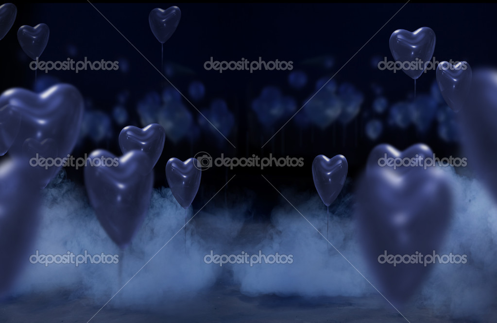 Studio background with hearts  — Stock Photo #4597254