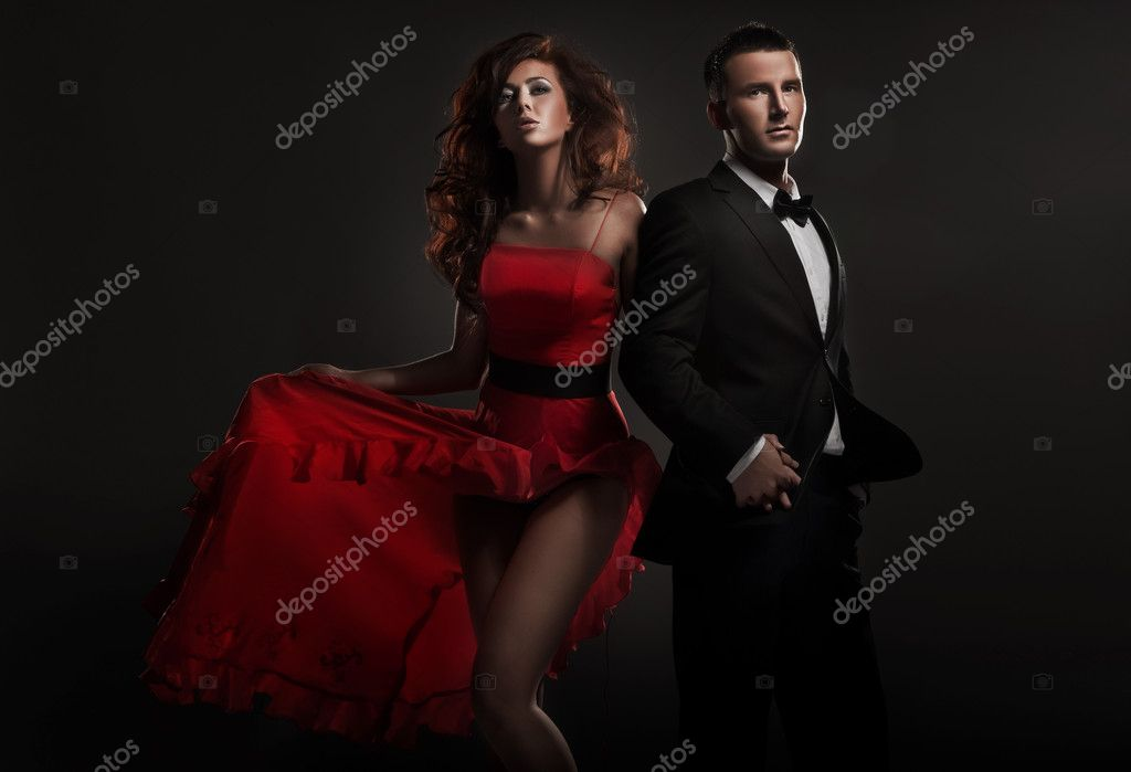 Fashion style photo of a cute couple  Stock Photo #4676680