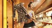 Sexy shopping girl — Stock Photo