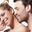 Closeup portrait of a happy young couple — Stock Photo #4904445