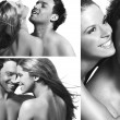 Stock Photo: Three views of a smiling couple in love