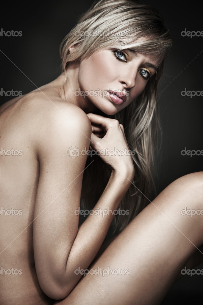 depositphotos 4967371 Beautiful sexy tanned naked young slim blond girl sitting And here is the nude empowering pic from Harper's Bazaar: