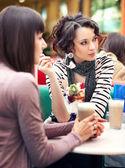 Two girls gossip — Stock Photo