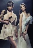 构成的两个美丽性感女孩 — 图库照片