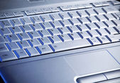 Laptop's keyboard — Stock Photo