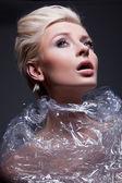 Cute blondynka pozowanie — Zdjęcie stockowe
