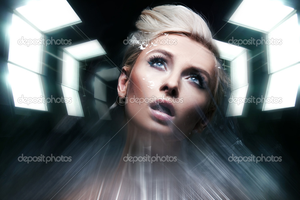 Photo of a future woman — Stock Photo #5191256