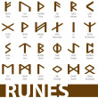 Постер, плакат: Complete set of runes vector illustration