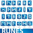 Stock Vector: Complete set of runes vector illustration