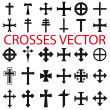 Set Crosses vector. various religious symbols - Stock Vector