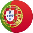 Stock Vector: Portugal flag icon, with official coloring