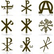 Royalty-Free Stock Vector Image: Set Christan vector. various religious symbols