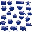 Royalty-Free Stock Vector Image: Set of bubbles icons symbols talk glossy speech thought