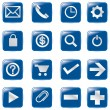 Web computer bubble Icons, Vector File pictogram - Stock Vector