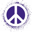 Peace sign isolated on a background vector illustration — 图库矢量图片