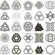 Sada symbolů ikony vektoru. Sada návrhů tetování — Stock vektor