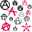 Stock Vector: Anarchy symbol icon vector illustration
