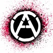Anarchy symbol icon vector illustration — Stock Vector