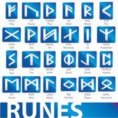 Complete set of runes vector illustration — Stock Vector