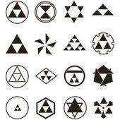 Vector. vários símbolos religiosos — Vetor de Stock